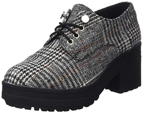MTNG Collection 57408, Zapatos de Cordones Oxford para Mujer, Poule Blanco/Negro C42791, 38 EU