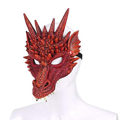 3D Drachen Maske Kostüm Erwachsener Teenager für Halloween Karneval Party Halloween (Liste Besten Der Halloween-kostüme)