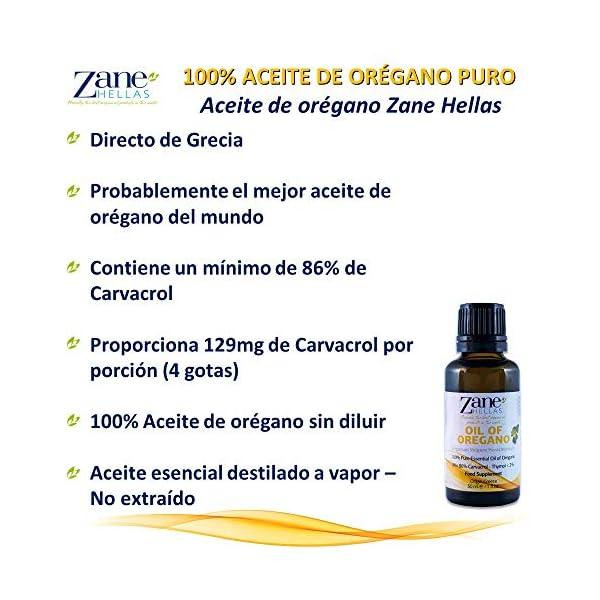 Zane Hellas 100% Aceite de orégano sin diluir.Aceite Esencial de orégano Silvestre Griego Puro.86% Min Carvacrol.129mg de Carvacrol por porción.Probablemente el Mejor Aceite de orégano del Mundo.30ml
