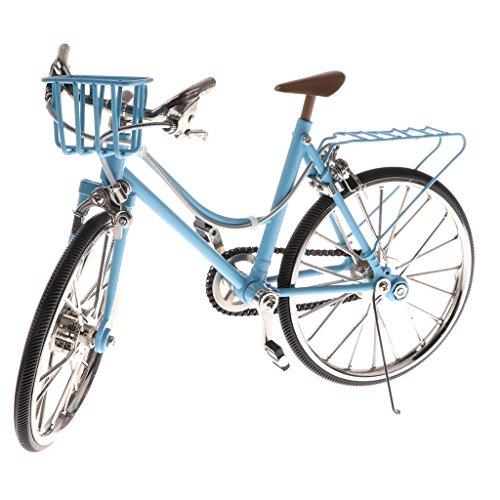 Homyl 1:10 Miniatur Fahrrad/Rennrad/Dreirad/Einrad/Rikscha Modell Spielzeug - Blau, 2