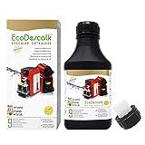 EcoDescalk Concentrato 500 ml. Decalcificante per Tutte le Macchine da Caffè. Tutte le Marche (Bosch, Nespresso, Krups, DeLonghi, Tassimo.) 9 Decalcificazioni. Prodotto CE.