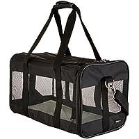 AmazonBasics Transporttasche für Haustiere, weiche Seitenteile, Schwarz, Gr. L
