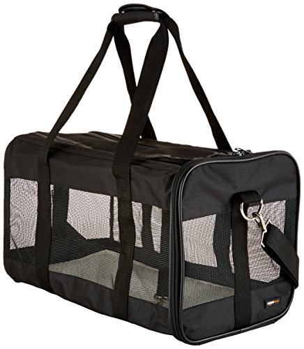 AmazonBasics Black Soft-Sided Pet Carrier - Large
