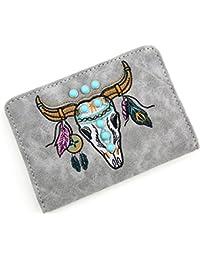 Travel Passport Holder Longhorn Rhinestone Cover Slim Id Card Case For Men & Women Travel Wallet Securely Holds...
