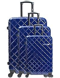 UNANYME GEORGES RECH Set de 3 trolleys rígidos Montpellier Azul