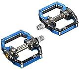 In-Mold Aluminium CNC Lager Fahrradpedal für Rennrad /Mountainbike MTB, Blau Schwarz Gemischt
