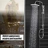 Duschsäule ohne Wasserhahn Regendusche Duscharmatur Duschkopf Duschsystem inkl Handbrause Shower Set, Höhenverstellbar