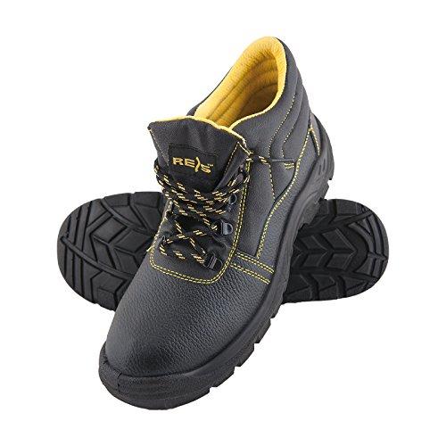 REIS Sicherheitsschuhe BRYES-T S3 36-50 Leder Arbeitsschuhe Schnürschuhe Lederschuhe Sicherheitsschuhe Halbschuhe Größe 48