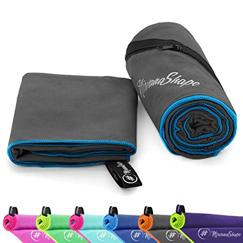 NirvanaShape® Mikrofaser Handtücher   saugfähig, leicht, schnelltrocknend   Badehandtücher, Reisehandtücher, Sporthandtücher   Ideal für Reisen, Fitness, Yoga, Sauna