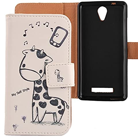 Lankashi PU Housse Case Cover Cuir Coque Etui Flip Protection Portefeuille Pour Archos 50 platinum 4G 5