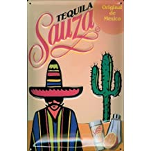 Tequila Sauza diseño de cartel de chapa 20 x 30 cm de metal Tin Sign