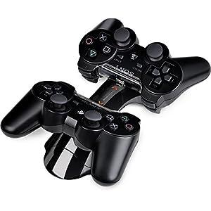 Speedlink Bridge Ladestation für Playstation 3/PS3 Controller (aufladbar per USB oder Netzteil, Ladezeit ca. 2,5 Stunden) schwarz
