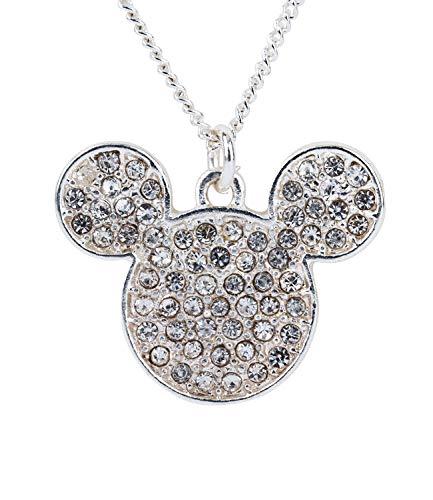 SIX Halskette mit schmucksteinverziertem Mickey Mouse-Kopf (790-786)