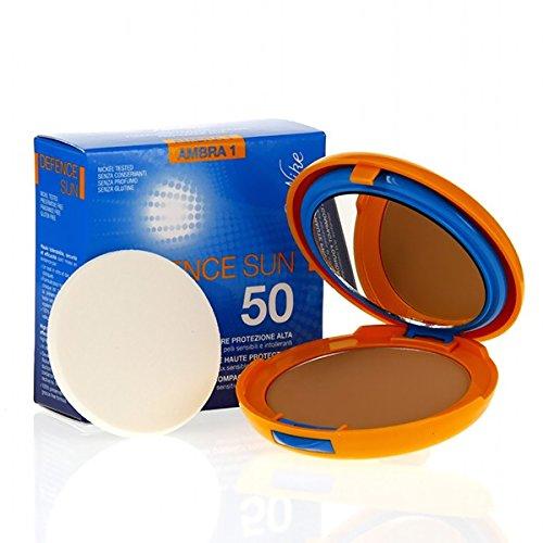 Bionike Defence Sun Fondotinta Compatto Solare (Colore 1 Ambra, SPF 50) - 10 gr.