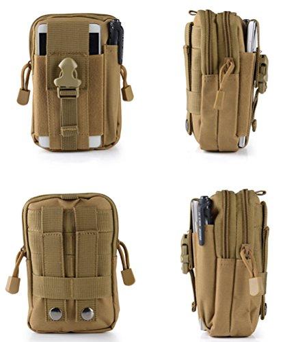 Praktische Freien Khaki Ausrüstung Dexinx Hüfttaschen Tasche Im Multifunktional Taktische Tragbar azxaX