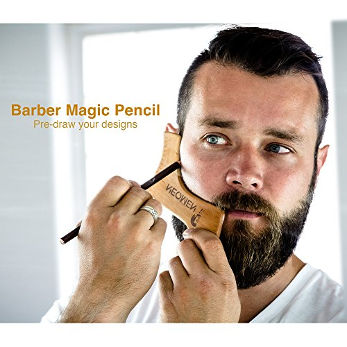 Exceptionnel Kit per Cura della Barba in Legno, Sagoma per Modellare la Barba  HW27
