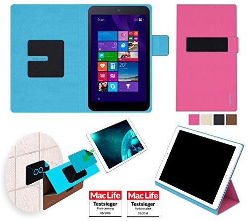 reboon Hülle für Asus Vivo Tab 8 M81C Tasche Cover Case Bumper   in Pink   Testsieger