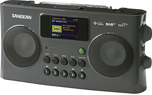 Sangean WFR-29C tragbares Internetradio (DAB+/UKW-Tuner, USB, UPnP/DMR Music Streaming, AUX-In, Weckfunktion, Dual Alarm) anthrazit (Uhr Wifi Touch Screen)