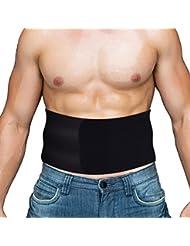 Faja lumbar reductora de entrenamiento,deportiva abdominal neopreno condensador ajustable de OMorc,control de la panza de la cintura trainer para hombre/mujer