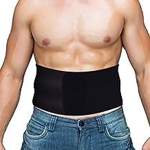 Faja Deportiva Lumbar para hombres y mujeres de OMorc, Reductor de Peso / Moldeadora para Cintura / Back Supporter, Faja Neopreno Suave y Adjustable, Faja Adelgazante Abdominal