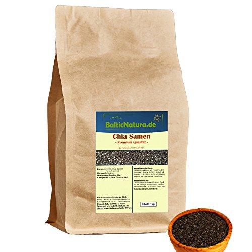 Chia Samen schwarz (1kg) Staffelpreise geprüfte Premium Qualität Chiasamen