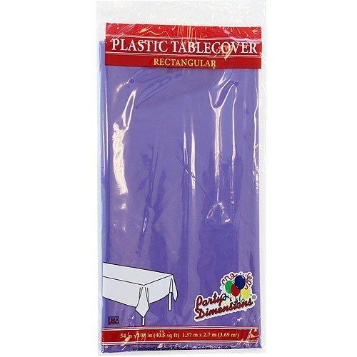 274,3cm Zoll Rechteck Tischdecke, rot und weiß, Gingham-Muster, plastik, violett, 4er-Packung ()