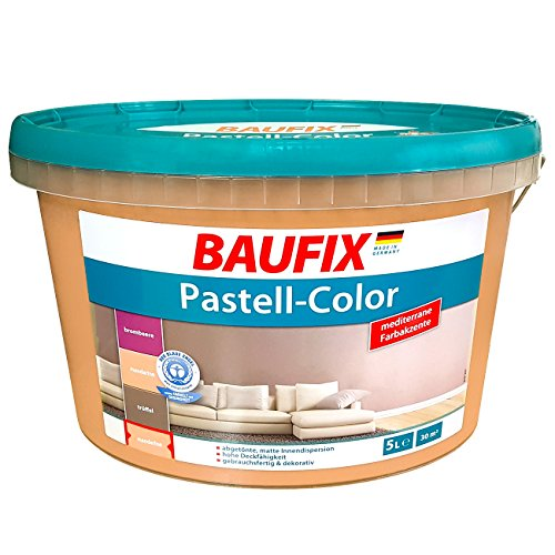 Baufix Innenfarbe Matt Farbe Orange Malerfarbe Wand Dispersions-Innenfarbe 5L / 30m²