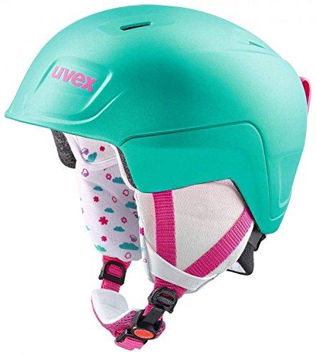 Uvex Kinder Manic Pro Skihelm, Mint-pink met mat, 51-55 cm