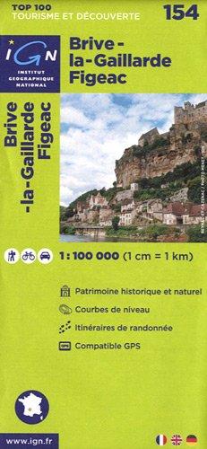 Top100154 Brive-la-Gaillarde/Figeac 1/100.000 par Ign