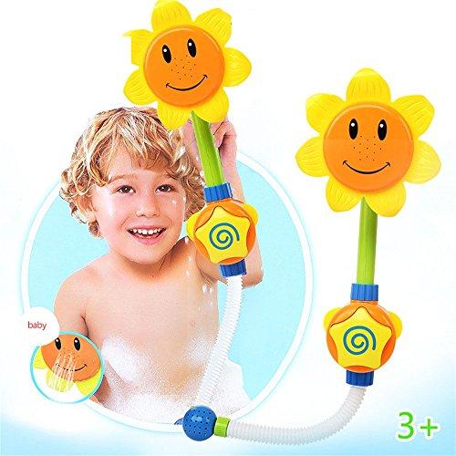 Badewannenspielzeug, Frashing Sunflower Bath Toy Badewannenspielzeug kids Sprinkler Shower Head Water Spraying Toy Spielzeug Bathing (Kostüm Kühlschrank)