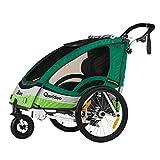 QERIDOO Kinderfahrradanhänger Sportrex2 grün OneSize