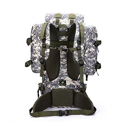 BM Camo Outdoor Klettern Tasche Schulter Ihre Bergsteigen Camo Tactical Rucksack Camping Wandern Tasche Rucksack 80L gray