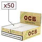 OCB - 50 cajas de papel de fumar de cáñamo natural (50 hojas)