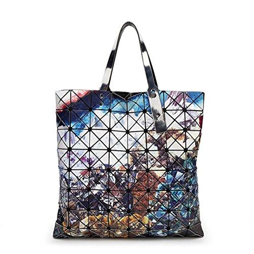Starry Sky Taschen Geometrie Frauen Handtaschen Berühmte Designer Hot Bag Top Griff Patchwork Handtasche 2