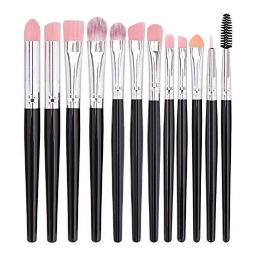 12pcs maquillage cosmétique brosse à lèvres pinceau de maquillage pinceau fard à paupières (D)