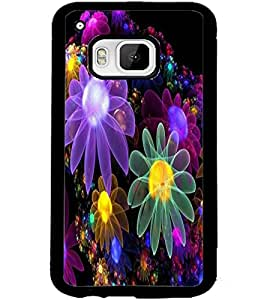 ColourCraft Beautiful Flowers Design Back Case Cover for HTC ONE M9