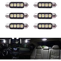 6pcs 42mm Auto Voiture Dome, 5050SMD LED Canbus Ampoule Lampe Festoon LED Éclairage de plaque d'immatriculation éclairage Intérieur carte de dôme Courtois lamps Blanc