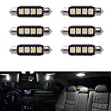 Bonega® 6pcs 42mm Auto Girlande Dome, 5050 SMD LED CANBUS Glühbirne Lampe Girlande LED Kennzeichenbeleuchtung Innenbeleuchtung Dome Karte Höflichkeit Lampen Weiß