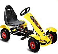 Lvbeis Kids Pedal Go-Kart Ride On Rubber Wheels Sports Racing Toy Car.Give Your Child The Best GiftProduct Features:- Hand operated rear wheel brake- Rubber tyres for a superior ride.Non-slip, waterproof and shockproof. Inflatable- Easy assembly.No d...