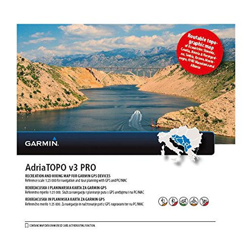 Preisvergleich Produktbild Garmin Adriatopo v3 Pro Topographische Vektorkarte,  Schwarz,  Uni