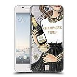 Head Case Designs Funkelndes Champagne Wein Fest Ruckseite Hülle für HTC One A9