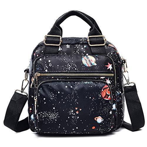Designer Handtasche Nylon (GDLXL Schultertasche wasserdichte Messenger Bag EXULL-0109 Nylon Umhängetasche Damen Handtasche Designer Kuriertasche Strandtasche Sporttasche Taschen Reisetasche,A)