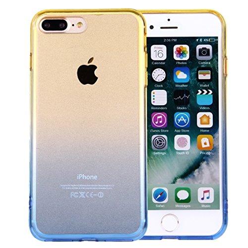 Hülle für iPhone 7 plus , Schutzhülle Für iPhone 7 Plus stilvolle klare Kristall Steigung Farbe Acryl + TPU Schutzhülle Rückseite ,hülle für iPhone 7 plus , case for iphone 7 plus ( SKU : IP7P0120YL ) IP7P0120YL