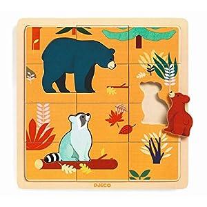 DJECO- RompecabezasPuzzles encajables y rompecabezasDJECOEncajable Puzzlo Canada, Multicolor (30)