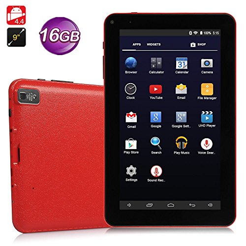 "Fenghong 9\"" Zoll Android Tablet PC, Hohe RAM-Speicher Phablet Tablet Quad Core entsperrt Handy-Tablets, Sim-Kartensteckplätze, Wifi, GPS, Bluetooth 4.0, HD-Bildschirm, Google Play (Rot)"