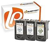Bubprint 3 Druckerpatronen kompatibel für Canon PG512 XL CL513 XL für Pixma IP2700 MP230 MP240 MP250 MP270 MP280 MP282 MP495 MP499 MX320 Schwarz Color