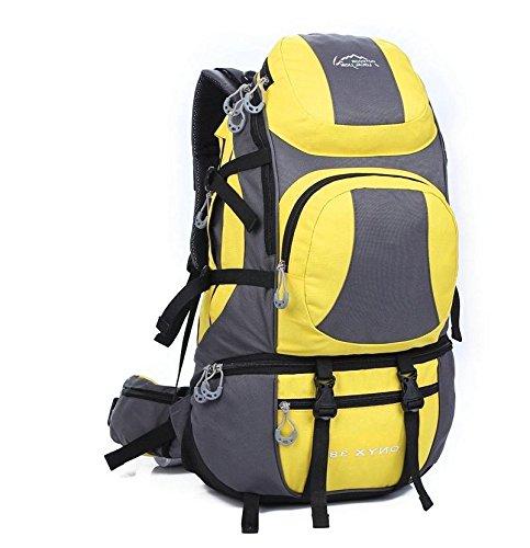 BM 45L uomini e donne borsa a tracolla grande capacità impermeabile Zaini campeggio zaino outdoor , Yellow Yellow
