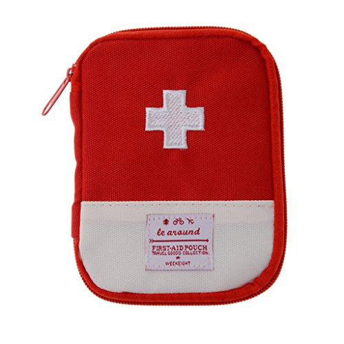Gazechimp Erste Hilfe Tasche, Notfalltasche, Aufbewahrungstasche für Erste Hilfe Kit, im Freien Outdoor Camping Reisen im Freien Überleben Pouch - Rot, S (Erste-hilfe-kits Emt)