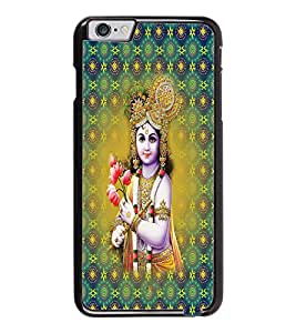PrintDhaba Lord Krishna D-2665 Back Case Cover for APPLE IPHONE 6 PLUS (Multi-Coloured)
