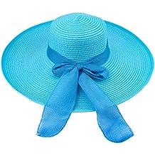 Sombrero de disquete Summer Beach Sombreros de paja de Sun Sombrero de  protección anti-UV a7252b5b994
